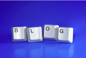 Blog spelled out in keyboard letters