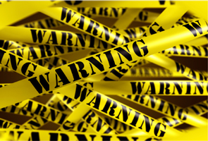Black and yellow warning tape
