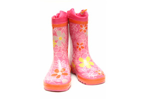 childrens pink wellington boots