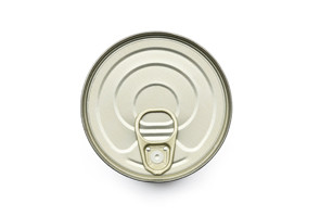 image of lid of a ring-pull tin