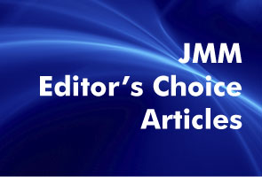 Blue background white text JMM Editor's Choice Articles