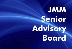 Blue abstract background white text Journal of Marketing Management Senior Advisory Board