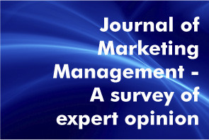 Text 'JMM A survey of expert opinion' on a blue abstract background