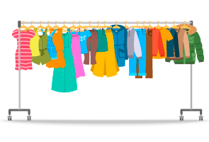 Sharing used children's clothing